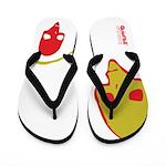 Punk Skull (Pop, Red & Yellow) Flip Flops