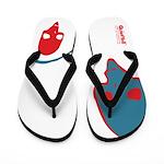 Punk Skull (Pop, Red & Blue) Flip Flops