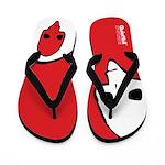 Punk Skull (Fresh, White on Red) Flip Flops