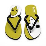 Punk Skull (Fresh, White on Yellow) Flip Flops