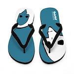 Punk Skull (Fresh, White on Blue) Flip Flops
