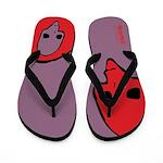 Punk Skull (Bold, Red on Purple) Flip Flops