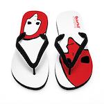 Punk Skull (Bold, Red on White) Flip Flops