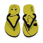 Punk Skull (Basic, Black on Yellow) Flip Flops