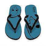 Punk Skull (Basic, Black on Blue) Flip Flops