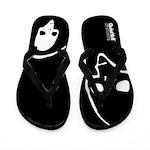 Punk Skull (Basic, White on Black) Flip Flops