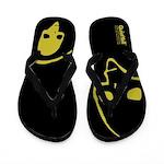 Punk Skull (Basic, Yellow on Black) Flip Flops