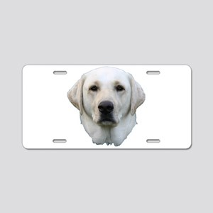 White lab 3 Aluminum License Plate