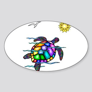 Sea Turtle #1 Sticker (Oval)