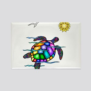Sea Turtle #1 Rectangle Magnet