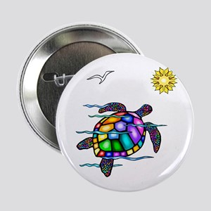 "Sea Turtle #1 2.25"" Button"