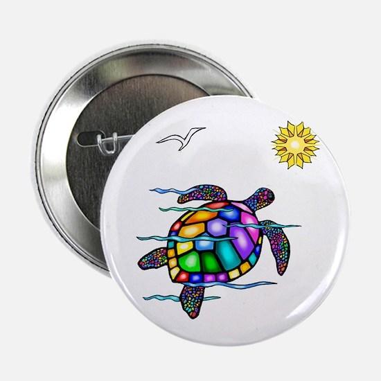 """Sea Turtle #1 2.25"""" Button"""