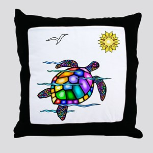 Sea Turtle #1 Throw Pillow