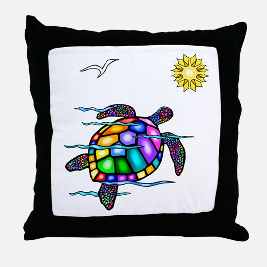 Sea Turtle #1 Throw Pillow