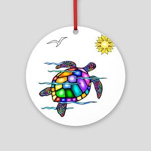 Sea Turtle #1 Ornament (Round)