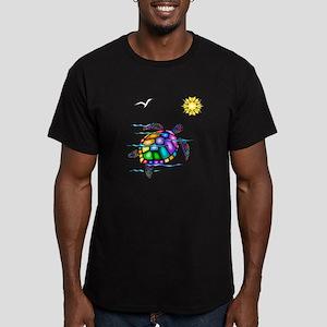 Sea Turtle #1 Men's Fitted T-Shirt (dark)
