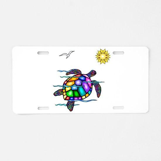 Sea Turtle #1 Aluminum License Plate
