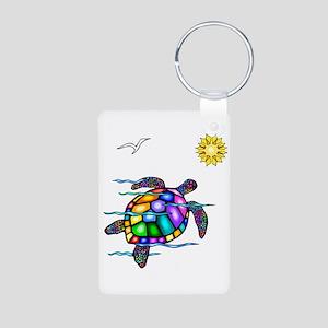 Sea Turtle #1 Aluminum Photo Keychain