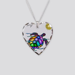 Sea Turtle #1 Necklace Heart Charm