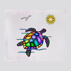 Sea Turtle #1 Throw Blanket