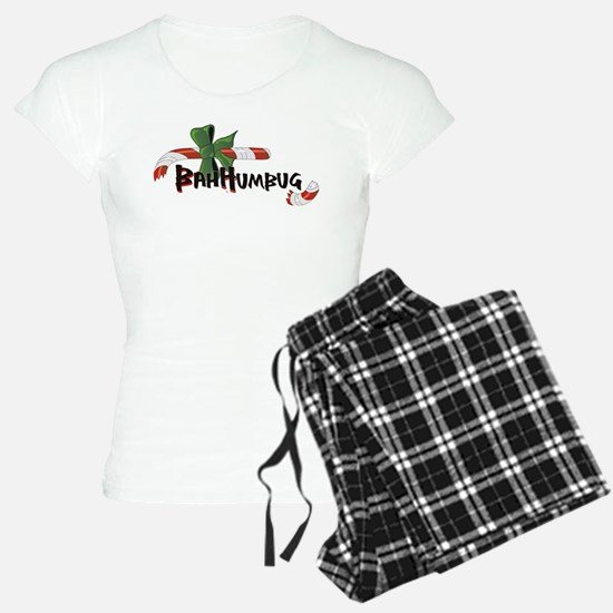 Bah Humbug Broken Candy Cane Pajamas