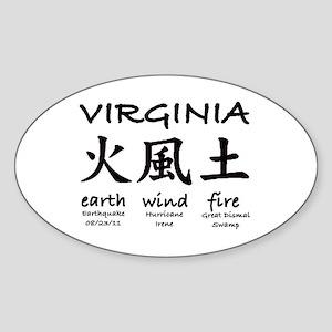 #4 Virginia Earthquake 2011 Sticker (Oval)