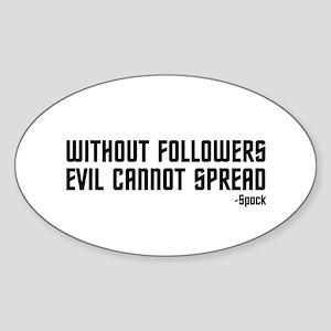 Evil... Sticker (Oval 10 pk)