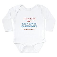 Survived East Coast Quake Long Sleeve Infant Bodys