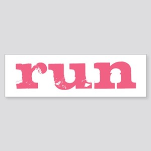 run - pink Sticker (Bumper)