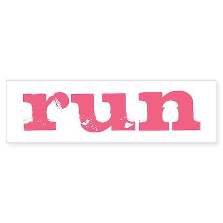 run - pink Sticker (Bumper)