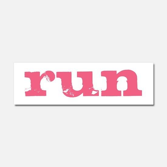 run - pink Car Magnet 10 x 3
