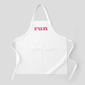 run - pink Apron