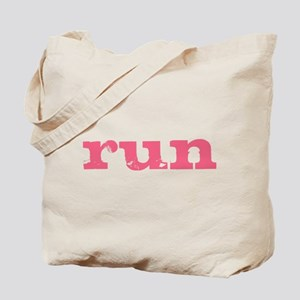 run - pink Tote Bag