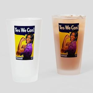 Michelle Obama Drinking Glass