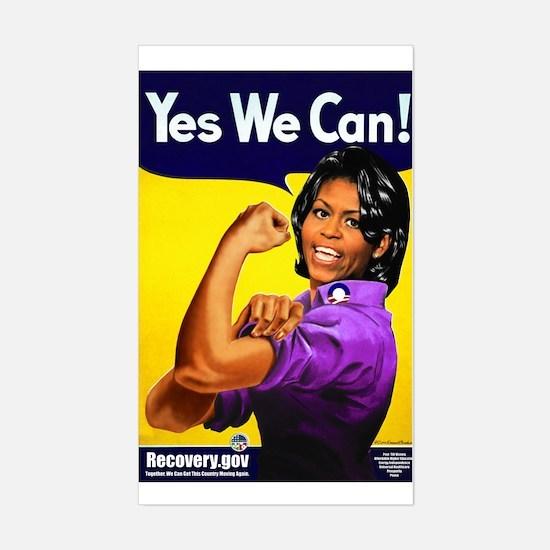 Michelle Obama Sticker (Rectangle)