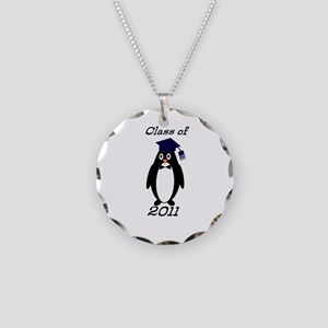 Class of 2011 Penguin Necklace Circle Charm