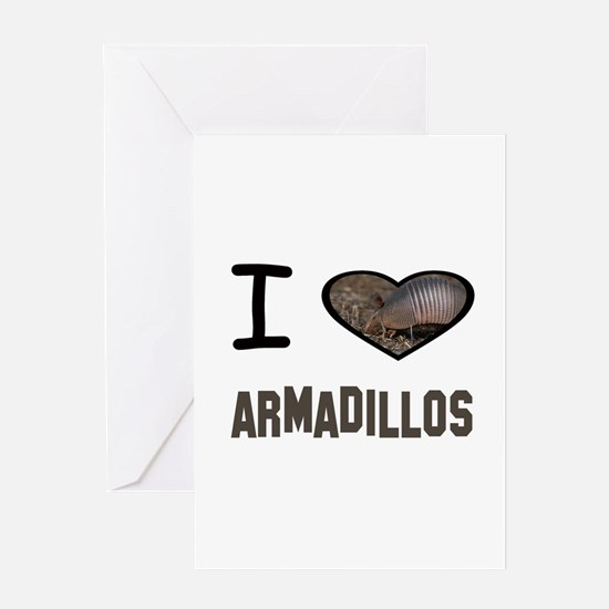 Cute Armadillo Greeting Card