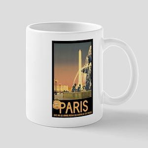 Vintage Paris France Travel Mug