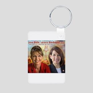 Palin Bachmann Aluminum Photo Keychain