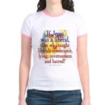 Jesus liberal? Jr. Ringer T-Shirt