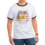 Jesus liberal? Ringer T-shirt