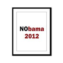 NObama 2012 Framed Panel Print