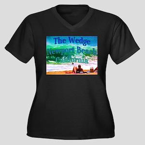 The Wedge Women's Plus Size V-Neck Dark T-Shirt