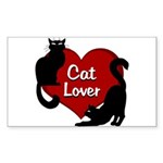 Fat Cat & Cat Lover Sticker (Rectangle)