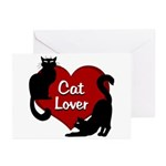 Fat Cat & Cat Lover Greeting Cards (Pk of 10)