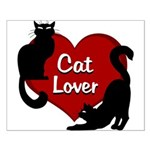 Fat Cat & Cat Lover Small Poster