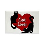 Fat Cat & Cat Lover Rectangle Magnet (100 pack)