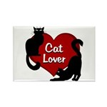Fat Cat & Cat Lover Rectangle Magnet (10 pack)