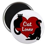 "Fat Cat & Cat Lover 2.25"" Magnet (10 pack)"