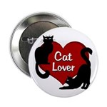 "Fat Cat & Cat Lover 2.25"" Button"
